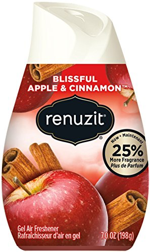Renuzit Blissful Apple & Cinnamon Adjustable Gel Air Freshener, 7oz Cone (Pack of 12) (Air Gel)