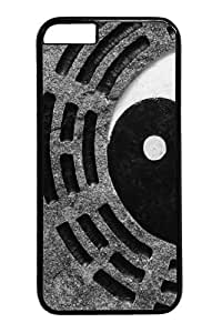 Ancient Yin Yang11 Custom iphone 4/4s inch Case Cover Polycarbonate Black
