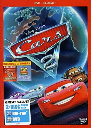 Amazon Com Cars 2 Two Disc Blu Ray Dvd Combo In Dvd Packaging
