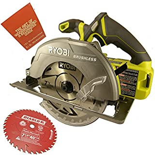 Ryobi circular saw cordless do it yourselfore ryobi p508 18 volt one 7 14 in brushless circular saw greentooth Gallery