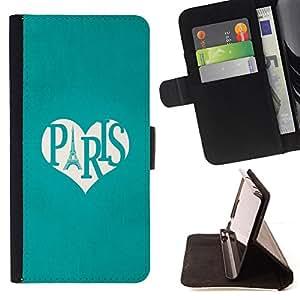 """For HTC Desire 626 626w 626d 626g 626G dual sim,S-type Torre Eifel El amor del Corazón de viajes Francia"""" - Dibujo PU billetera de cuero Funda Case Caso de la piel de la bolsa protectora"""