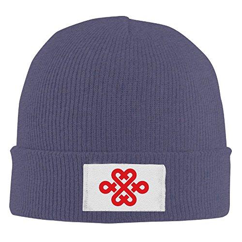 unisex-beanie-hat-china-unicom-chinese-knot-logo-navy