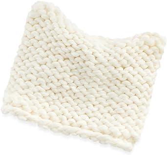 LC Lauren Conrad Chunky Knit Kitty Ear Beanie Ivory White Women/'s One Size