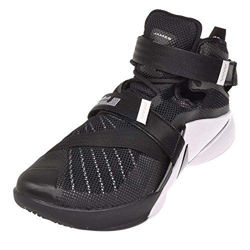 Nike Lebron Soldat Xi Herre Basketball Sko Sort / Hvid / Antracit / Sølv N96tGXbEtM