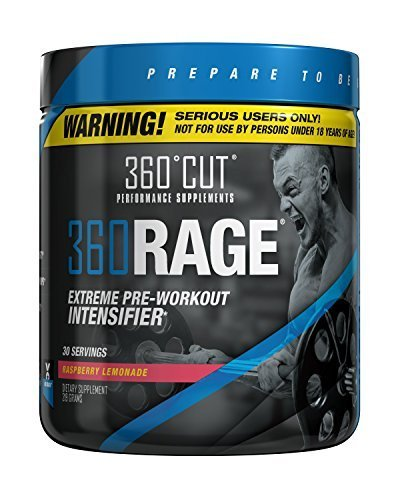 360RAGE, #1 Most Intense Pre Workout Supplement for Serious Users Only, Raspberry Lemonade, 30 Servings by 360Cut