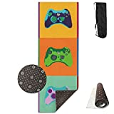 QNKUqz Colorful Game Gamepad Deluxe Yoga Mat Aerobic Exercise Pilates
