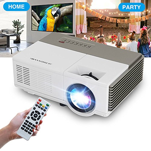 Mini Projector Portable LED LCD Digital Multimedia HDMI USB Projectors Full HD 1080P Supported for Fire TV Stick, Video Game, Blue Ray DVD Player, Smartphone Home Theater Entertainment, Outdoor Movie