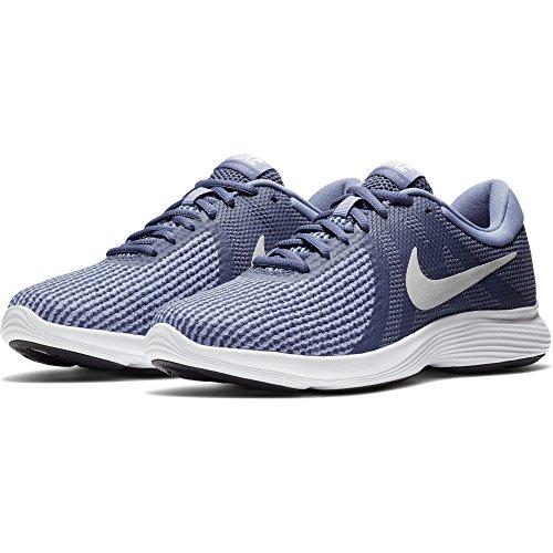 3923b8b7d6e7 Nike Women s Revolution 4 Running Shoe Blue Recallpure Platinumpurple Slate  Size 10 M Us