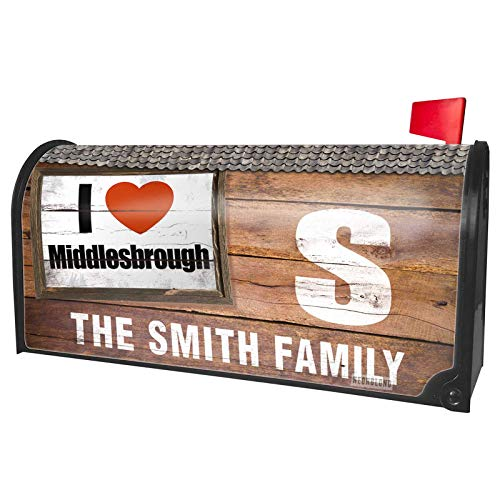 NEONBLOND Custom Mailbox Cover I Love Middlesbrough Region:
