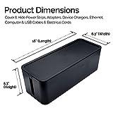 GoStar Cable Organizer Box - Large Black Cord