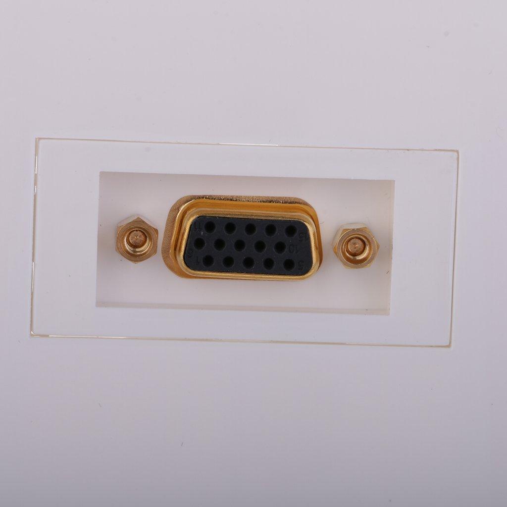 Baoblaze Plauque Murale Hubs Prises T/él/éphones Femelle /à 15 Broches Fixes Mur USB 3.0 VGA