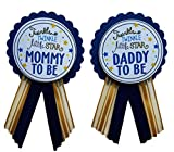 Mommy to Be & Daddy to Be Pin Twinkle Little Star Baby Shower Pin for parents to wear, Navy & Gold, It's a Girl, It's a Boy Baby Sprinkle