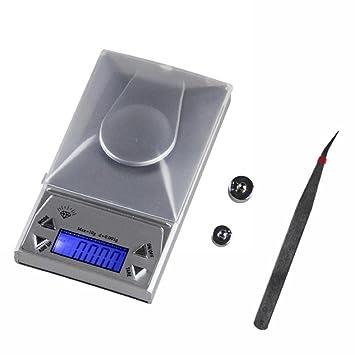 PESAR Básculas portátiles de Alta precisión de la joyería, Pesos electrónicos 0.001g Gramos,