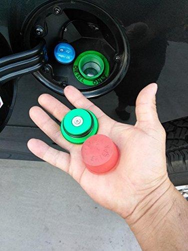 Auto Parts 2013-2017 Billet Aluminum Green Fuel Cap Magnetic and Blue DEF Cap for Dodge Ram Cummins