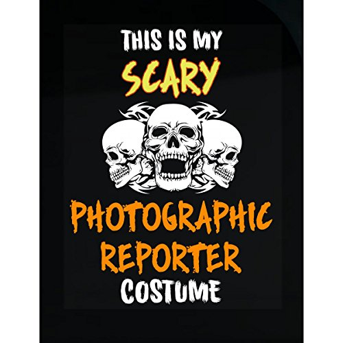 Inked Creatively This is My Scary Photographic Reporter Costume Halloween - Sticker ()