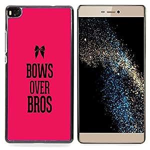 """For Huawei Ascend P8 (Not for P8 Lite) Case , Feminismo texto feminista Bros Rosa texto"""" - Diseño Patrón Teléfono Caso Cubierta Case Bumper Duro Protección Case Cover Funda"""