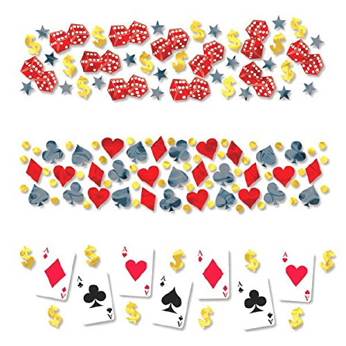 Casino Party Confetti, 1.2 - Casino Party Invitations Night