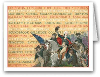 Famous Revolutionary War Battles note card- 10 Boxed Cards & Envelopes (Battle Notes)