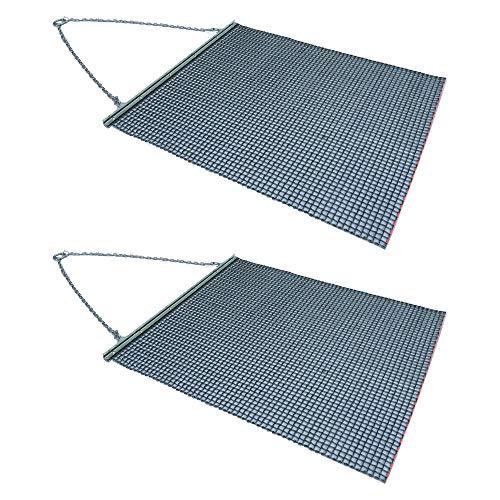 Yard Tuff YTF-68TBDM ATV/UTV 6' x 8' Zinc Plated Field Surface Leveling Drag Mat (2 Pack)