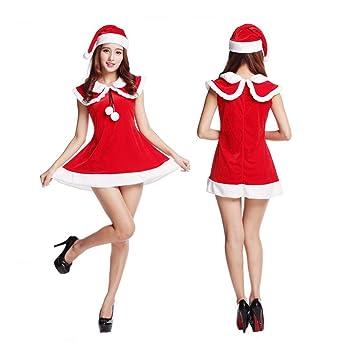 SDLRYF Disfraz De Papá Noel Traje De Navidad Falda Femenina ...