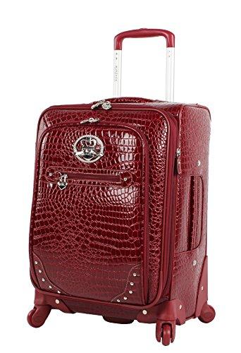 Kathy Van Zeeland Croco PVC Luggage Set 4 Piece Expandable Suitcase with Spinner Wheels (One Size, Burgendy) by Kathy Van Zeeland (Image #2)