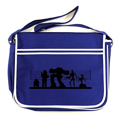 Arcane Store - Bolso al hombro de Algodón para hombre azul cobalto