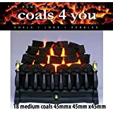 18 Gas Fire Medium Coals Replacement Replacements/Bio Fuels/Ceramic/Boxed in Coals 4 you packaging by COALS 4 YOU