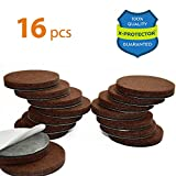 "Best Chair Glides for Hardwood Floors X-PROTECTOR Premium 16 THICK 1/4"" HEAVY DUTY Felt Furniture Pads 2""! Felt Pads for Heavy Furniture Feet – Best Felts Wood Floor Protectors for NO SCRATCHES Sliders. Protect Your Hardwood Floor!"