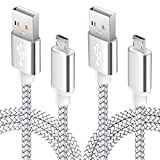 6FT Android Phone Charger Cable Micro USB Fast Charging Cord for Kindle fire 7 Samsung Galaxy J3 J7 S6 S7 Edge, LG stylo 2/3 LG G3 G4 K30 K20 Plus Moto E5 Plus, E6, G4, G5 Plus, G5S Plus, G6 Play