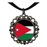 GiftJewelryShop Bronze Retro Style Jordan flag Flower Pendant Charm Necklaces #22