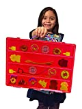 Beyblades Carrying Case - Stores Dozens Of Battle Spinners - Durable Toy Storage Organizers By Life Made Better - Red