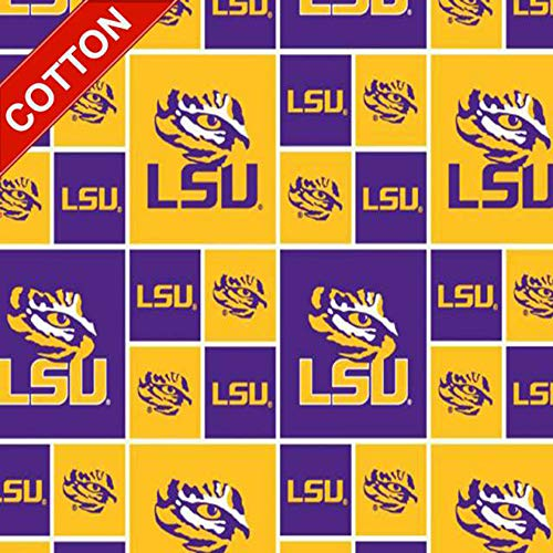 (Louisiana State University Tigers NCAA Cotton Fabric - 45