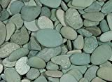 Green Vista Green Seaside Beach Pebbles - 1 to 2 Inch - 35 Pounds - Fairy Garden and Decorative Landscape Stones for Indoor or Outdoor Use - Smooth Surface - Fantastic Color