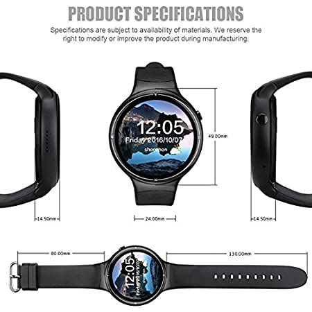 Generic IQI I4 Pro 3G GPS Android Watch Phone (Bluetooth 4.0 ...
