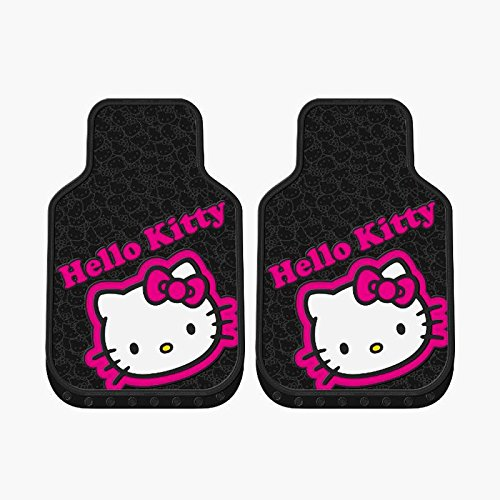 2-pc-hello-kitty-collage-black-pink-front-rubber-floor-mats-set-new-universal