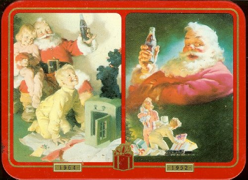 1996Limited Edition Coca Cola NostalgiaクリスマスHoliday Santa Playing Cards in a Collectible Tin–2Decksの商品画像