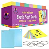 Star Right Blank Flashcards in Assorted Colors