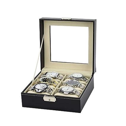 Organizador de cajas de relojes Caja de reloj de cuero de la ...