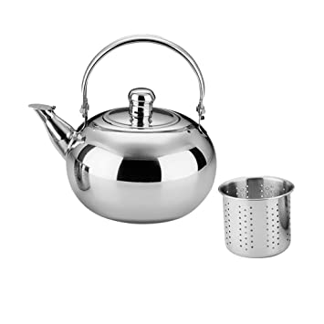 Home Camping Hiking Lightweight 1L//1.5L//2L//2.5L Stainless Steel Tea Kettle