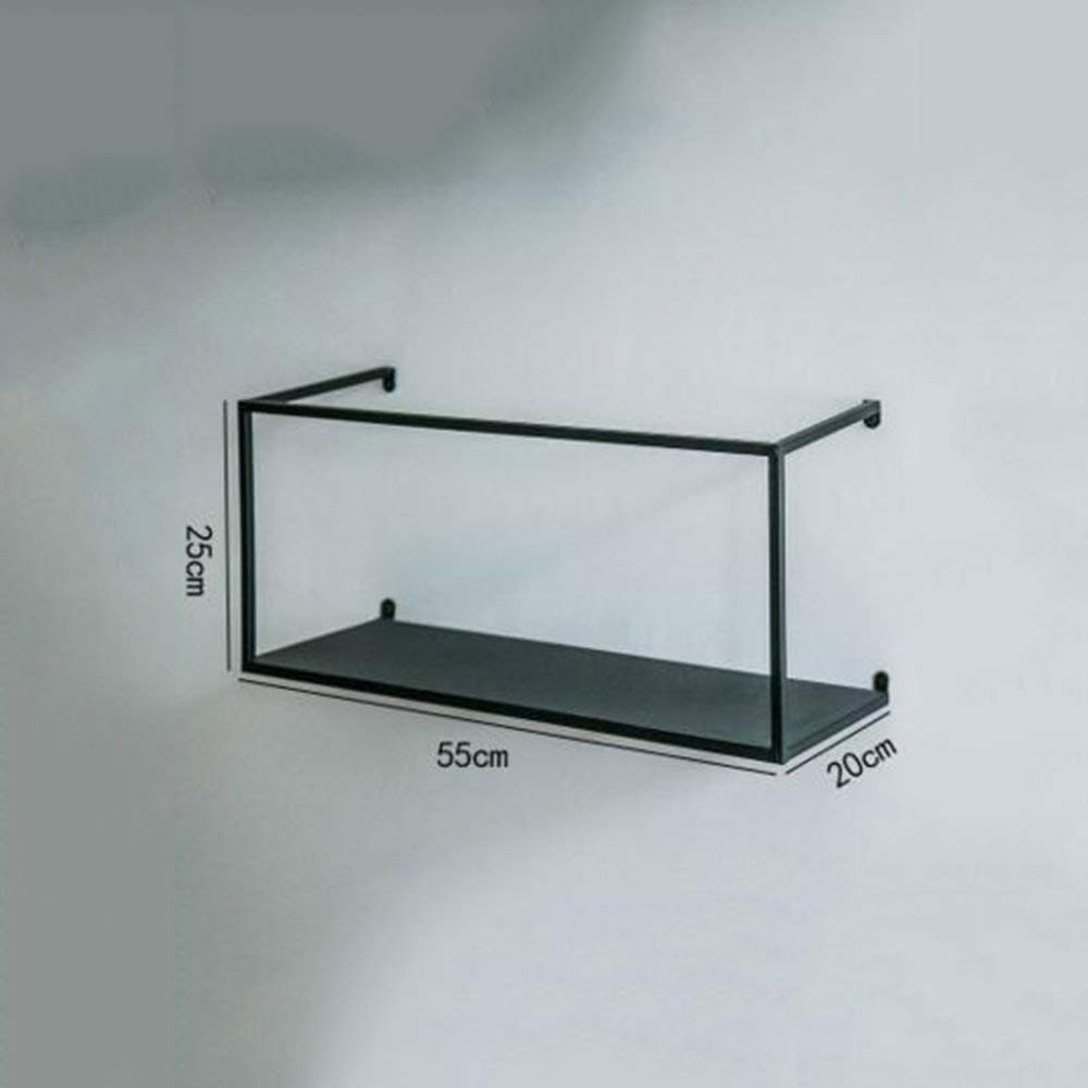 A DYR Retro Rack Shelf Wall Iron Wall Shelves Industrial Style A Variety of Styles (color  B)