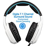 New-Updated-SADES-Spirit-Wolf-71-Surround-Stereo-Sound-USB-Computer-Gaming-Headset-with-MicrophoneOver-the-Ear-Noise-IsolatingBreathing-LED-Light-For-PC-Gamers-Black-White