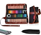Premium Art Supplies Organizer Set | 72-Slot Colored Pencil Case + Electric Eraser + 2 Pencil Extenders In Travel Pouch | Adult & Children Coloring Book Kit | BONUS: E-book (PENCILS NOT INCLUDED) >>