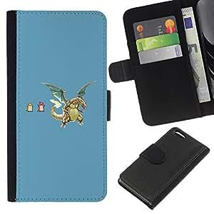 LECELL--Cuero de la tarjeta la carpeta del tirón Smartphone Slots Protección Holder For Apple Iphone 5C -- P0Kemons divertidos --