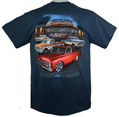 67 to 72 Chevy C/K Pickup Truck T-Shirt 100% Cotton - Blue by Hot Rod Apparel