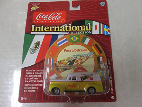 Johnny Lightning Coca Cola International Collection 1940 Ford Sedan Delivery Yellow/White #12
