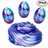Floam Slime Mud, LAWOHO Silly Putty Soft Slime Putty Hand Mud Stress Relief Sludge Toys Easter Egg for Kids and Adult 3 Packs 6 OZ