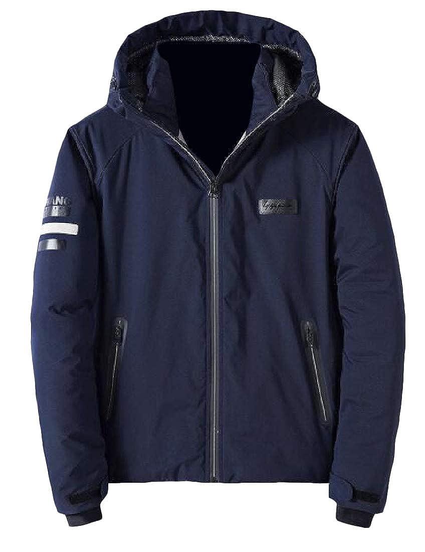 Sweatwater Men Warm Outwear Thickened Winter Coat Hooded Parkas Jacket