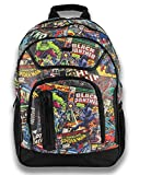 B. Designs Marvel 18'' Comic Print Backpack - Multi Compartment - Featuring Spiderman, Iron Man, and Other Marvel Characters