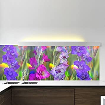 Amazon Com Purple Flowers Wall Mural Pink Floral Photo Wallpaper