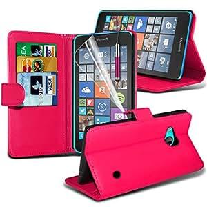 Microsoft Lumia 640 Tipo libre cubierta delgado funda protectora con tapa con lápiz Rosa